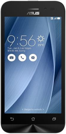 Смартфон ASUS Zenfone Go ZB452KG серебристый 4.5 8 Гб GPS 3G Wi-Fi 90AX0149-M02070 смартфон asus zenfone 3 zoom ze553kl серебристый 5 5 64 гб lte wi fi gps 3g 90az01h1 m00770