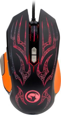 Мышь проводная Marvo G920 чёрный оранжевый USB цена и фото