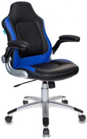 Кресло компьютерное игровое Бюрократ VIKING-1/BL+BLUE черный/синий