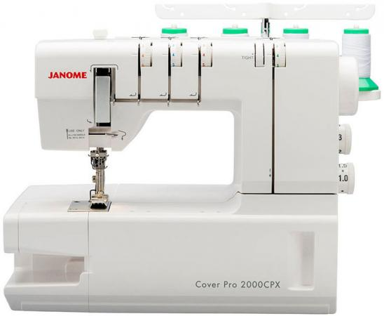 Оверлок Janome CoverPro 2000 CPX белый цена и фото
