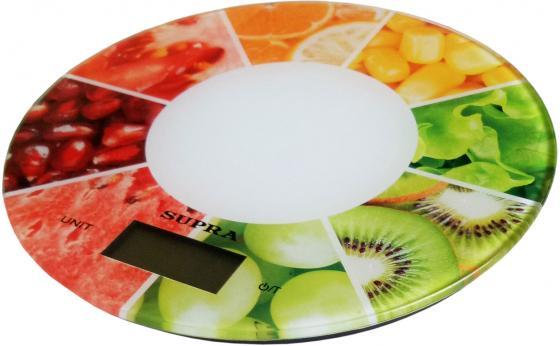 Весы кухонные Supra BSS-4603 белый ягоды весы напольные supra bss 2003 рисунок