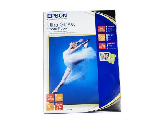 Бумага Epson 13*18 300 г/кв.м Ultra Glossy Photo Paper S041944 50л бумага epson enchanced matter paper a2 192г м2 c13s042095