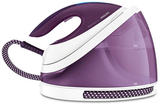 Парогенератор Philips GC7051/30 2400Вт белый фиолетовый парогенератор philips hi5912 30 белый фиолетовый 2400вт