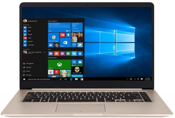 Ноутбук ASUS VivoBook S15 S510UQ-BQ176T 15.6 1920x1080 Intel Core i7-7500U 1 Tb 128 Gb 8Gb nVidia GeForce GT 940MX 2048 Мб золотистый Windows 10 Home 90NB0FM1-M06710