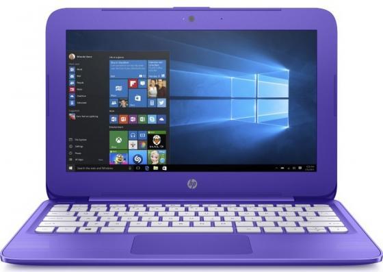 Ноутбук HP Stream 11-y012ur 11.6 1366x768 Intel Celeron-N3060 32 Gb 4Gb Intel HD Graphics 400 фиолетовый Windows 10 Home 2EQ26EA ноутбук hp stream 11 y006ur cel n3050 1 6ghz 11 6 4gb 32gb hd graphics w10 home white y7x25ea