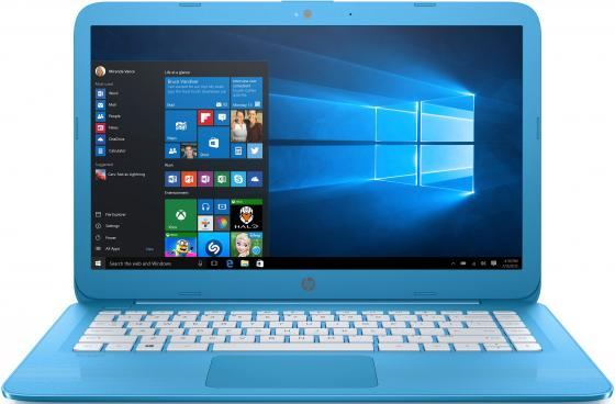 Ноутбук HP Stream 14-ax015ur 14 1366x768 Intel Celeron-N3060 32 Gb 4Gb Intel HD Graphics 400 бирюзовый Windows 10 Home 2EQ32EA ноутбук hp stream 14 ax012ur 14 intel celeron n3060 1 6ггц 2гб 32гб ssd intel hd graphics 400 windows 10 2eq29ea фиолетовый