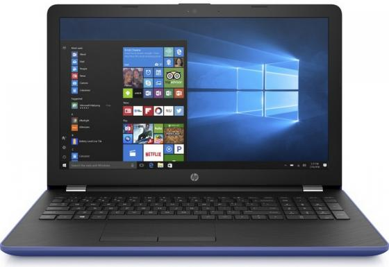 Ноутбук HP 15-bs108ur 15.6 1920x1080 Intel Core i5-8250U 1 Tb 128 Gb 6Gb AMD Radeon 520 2048 Мб синий Windows 10 Home 2PP28EA