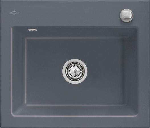 Мойка Villeroy & Boch Subway 60 S 600 x 510 mm i4 Graphite Ceramicplus 330901i4 villeroy and boch держатель туалетной бумаги villeroy boch lafleur 83 511 955 00