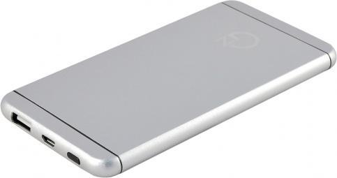 Внешний аккумулятор Power Bank 5000 мАч NewGrade HJ620W серебристый 2600mah power bank usb блок батарей 2 0 порты usb литий полимерный аккумулятор внешний аккумулятор для смартфонов светло зеленый