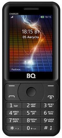 Мобильный телефон BQ BQ-2425 Charger черный 2.4 32 Мб BQM-2425-BLK мобильный телефон bq mobile bqm 1831 step white