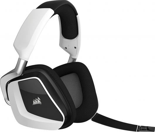 Игровая гарнитура беспроводная Corsair Gaming VOID PRO RGB Wireless Dolby Headphone 7.1 белый CA-9011153-EU tronsmart encore s6 bluetooth headphones active noise cancelling wireless headphone gamer gaming foldable design headset