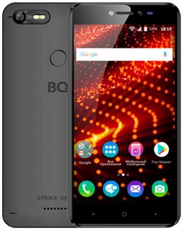 """Смартфон BQ BQ-5204 Strike Selfie черный 5.2"""" 8 Гб Wi-Fi GPS 3G BQS-5204-BLK цена"""