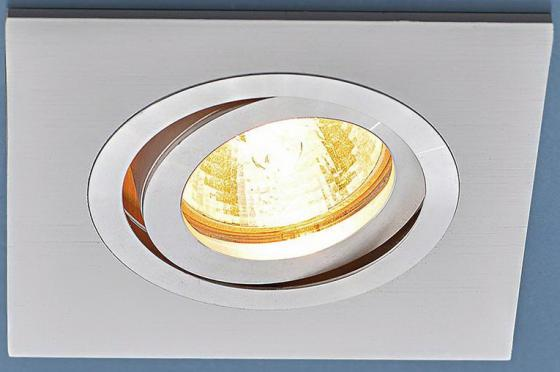 Встраиваемый светильник Elektrostandart 1051/1 WH белый 4690389083679 kb 1051