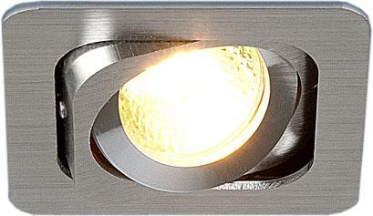 Встраиваемый светильник Elektrostandard 1021/1 MR16 CH хром 4690389055805 встраиваемый светильник elektrostandard техно 1021 1