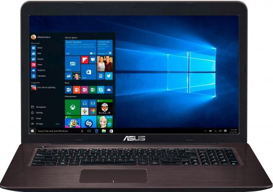 Ноутбук ASUS X756UQ-T4418T 17.3 1920x1080 Intel Core i5-7200U 1 Tb 4Gb nVidia GeForce GT 940MX 2048 Мб коричневый Windows 10 Home 90NB0C31-M05000 ноутбук lenovo deapad 310 15 6 1920x1080 intel core i3 6100u 500gb 4gb nvidia geforce gt 920mx 2048 мб серебристый windows 10 80sm00vqrk