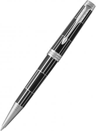 Шариковая ручка поворотная Parker Premier K565 Luxury Black CT черный M 1931404 цена 2017