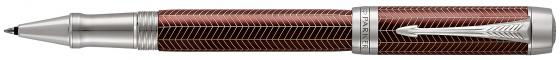 Фото - Ручка-роллер Parker Duofold T307 Prestige Burgundy Chevron CT черный F 1945420 ручки parker s1859483