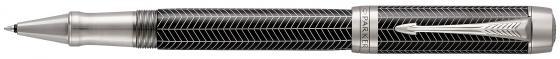 Ручка-роллер Parker Duofold T307 Prestige Black Chevron CT черный F 1945416 роллер parker duofold t74 black gt fblack s0690470