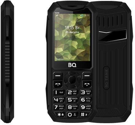 Мобильный телефон BQ 2428 Tank черный 2.4 32 Мб мобильный телефон zte r341 черный 1 8 32 мб
