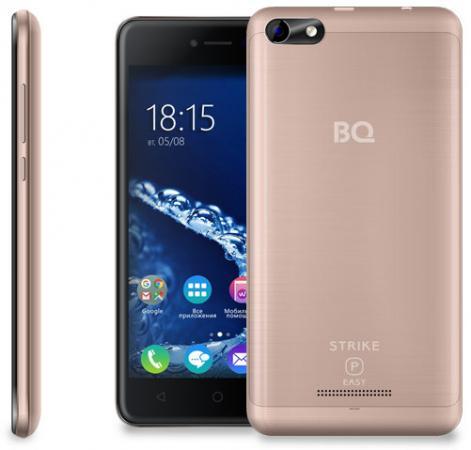 Смартфон BQ BQ-5058 Strike Power Easy золотистый 5 8 Гб Wi-Fi GPS 3G