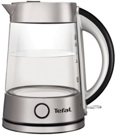 Чайник Tefal KI760D30 2400 Вт серебристый 1.7 л стекло чайник электрический tefal ko 270130