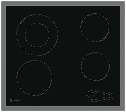 Варочная панель электрическая Indesit RI 261 X черный 18 5 dark gray and light gray and white and transparent holographic rear projection film