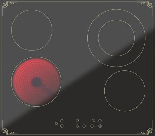 Варочная панель электрическая Дарина 4P8 E 326 B черный 000055441 цены