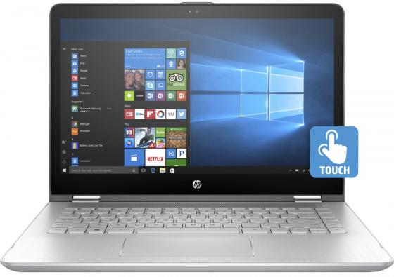 Ноутбук HP Pavilion x360 14-ba105ur 14 1920x1080 Intel Core i7-8550U 1 Tb 128 Gb 8Gb nVidia GeForce GT 940MX 4096 Мб серебристый Windows 10 Home 2PQ12EA