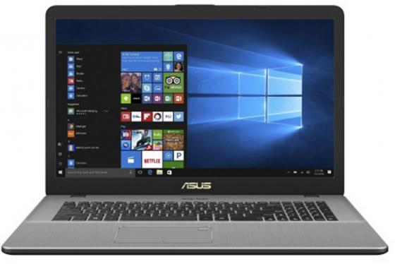 Ноутбук ASUS VivoBook Pro 17 N705UN-GC014T 17.3 1920x1080 Intel Core i7-7500U 1 Tb 128 Gb 8Gb nVidia GeForce MX150 2048 Мб серый Windows 10 Home 90NB0GV1-M00140