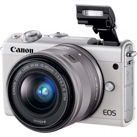 Фотоаппарат Canon EOS M100 18Mpix 3 1080p WiFi 15-45 IS STM LP-E12 белый 2210C012 canon eos m50 15 45 is stm белый