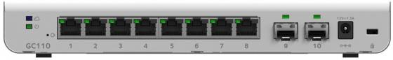 Коммутатор NETGEAR GC110-100PES управляемый 8 портов 10/100/1000Mbps коммутатор netgear fs208 100pes коммутатор на 8 портов 10 100 мбит с
