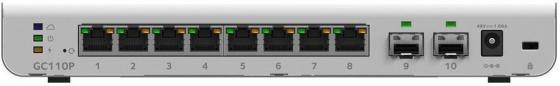 Коммутатор NETGEAR GC110P-100PES управляемый 8 портов 10/100/1000Mbps unlocked netgear aircard 790s ac790s 300mbps mobile hotspot wifi router 4g free gift commemorative coin