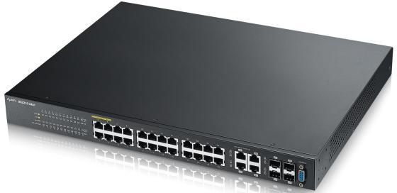Коммутатор Zyxel GS2210-24LP управляемый 24 порта 10/100/1000Mbps