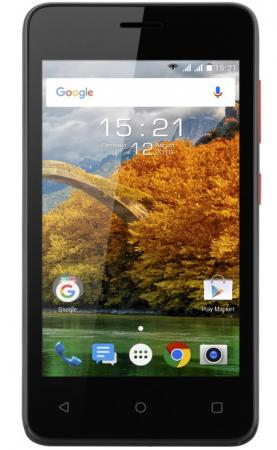 Смартфон Fly FS408 Stratus 8 черный 4 8 Гб Wi-Fi GPS 3G смартфон doogee x10 серебристый 5 8 гб wi fi gps 3g mco00055519