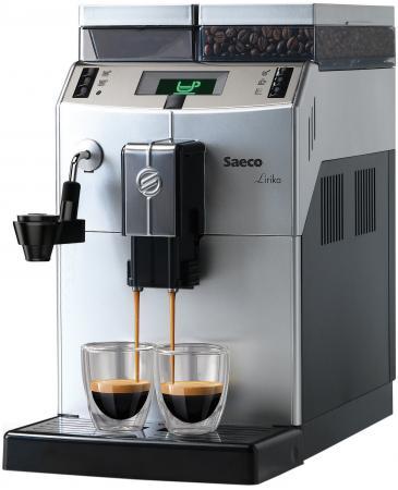 Кофемашина Saeco Lirika Plus 1850 Вт серебристый черный RI9841/01 кофемашина saeco lirika one touch cappuccino