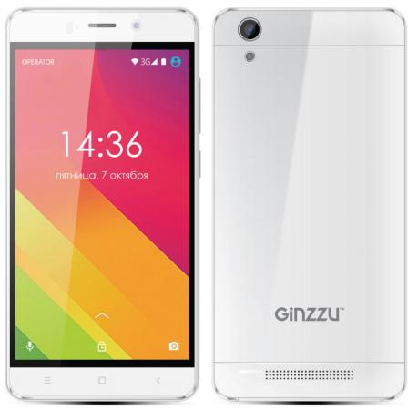 Смартфон GINZZU S5120 белый 5 8 Гб Wi-Fi GPS 3G смартфон ginzzu s5510 белый