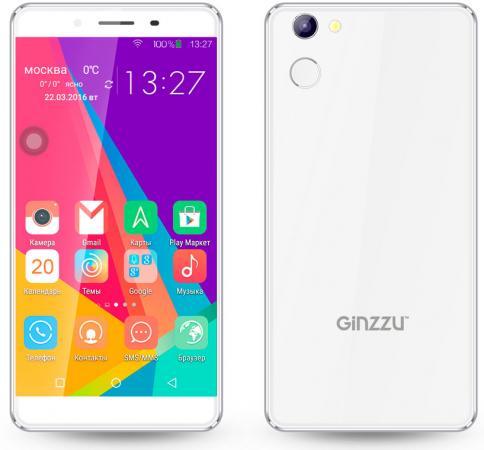 Смартфон GINZZU S5140 белый 5 8 Гб LTE Wi-Fi GPS 3G смартфон micromax q334 canvas magnus черный 5 4 гб wi fi gps 3g