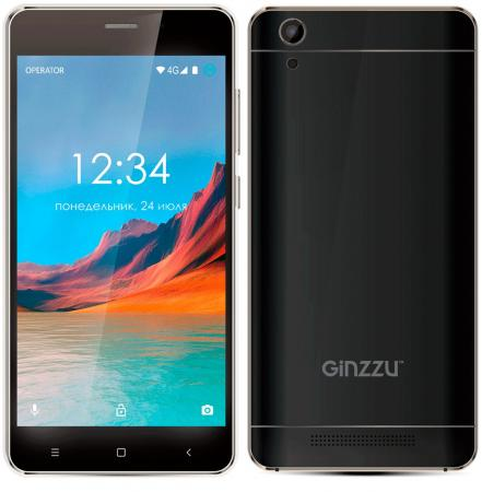 Смартфон GINZZU S5220 черный 5 8 Гб LTE Wi-Fi GPS 3G смартфон micromax q334 canvas magnus черный 5 4 гб wi fi gps 3g