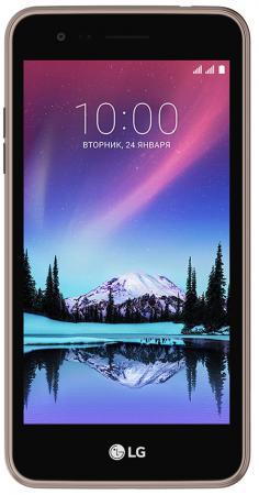 Смартфон LG K7 2017 коричневый 5 8 Гб Wi-Fi GPS 3G LTE LGX230.ACISBN смартфон lg q6 черный 5 5 64 гб lte wi fi gps 3g 4g lgm700an a4isbk