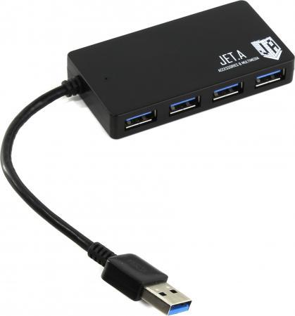 Концентратор USB 3.0 Jet.A JA-UH37 4 х USB 3.0 черный
