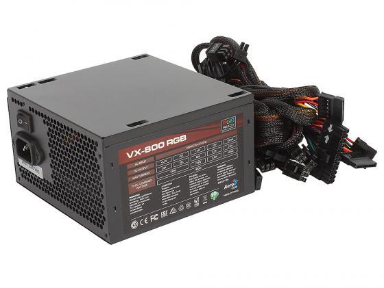 Блок питания ATX 800 Вт Aerocool VX-800 RGB блок питания atx 800 вт gamemax gm 800 ex221641rus