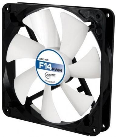 Вентилятор Arctic Cooling Arctic F14 PWM 140мм 550-1350об/мин ACFAN00078А вентилятор arctic cooling arctic f14 140мм acfan00077a