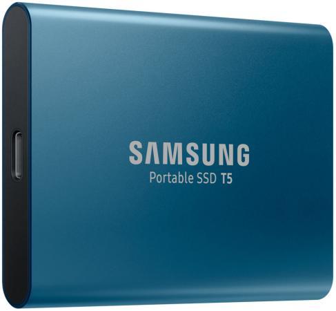 Внешний жесткий диск 1.8 USB3.1 500Gb Samsung T5 синий MU-PA500B/WW жесткий диск samsung portable ssd t5 1tb mu pa1t0b ww
