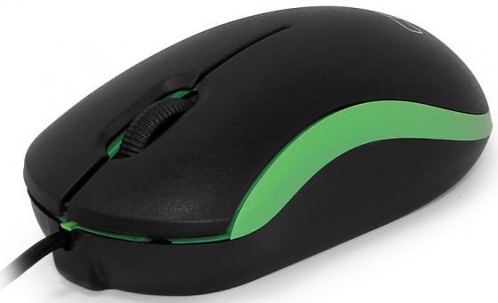 Мышь проводная CBR CM-112 чёрный зелёный USB мышь проводная asus gx950 чёрный usb 90 xb3l00mu00000