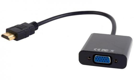 Переходник HDMI-VGA Gembird A-HDMI-VGA-03 10pcs lot db15 3rows parallel vga port hdb9 15 pin d sub male solder connector metal shell cover