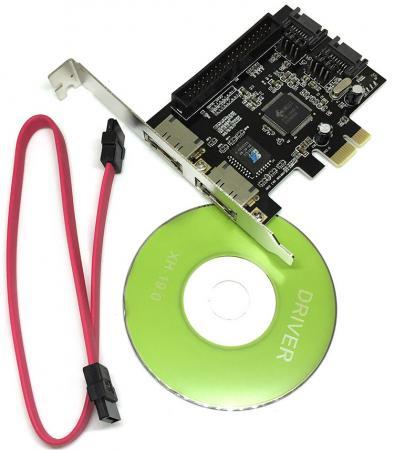 Контроллер PCI-E SATA2 2port + eSata 2port+IDE RAID JMB363 PCIE005 Espada 43063 OEM контроллер espada sata to ide bidirectional converter siis
