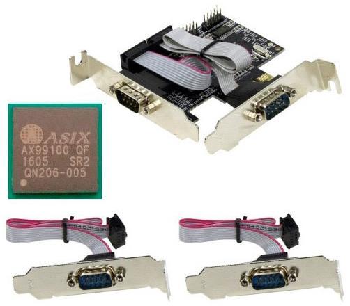 Контроллер Orient XWT-PE4SV1LP PCI-E - COM 4-port Low Profile ASIX AX99100 30488