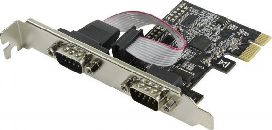 Контроллер Orient XWT-PE2SV1 PCI-E - COM 2-port ASIX AX99100 30490 контроллер orient xwt pe2s1pv2 pci e to com 2 port lpt 1 port wch ch382 ret