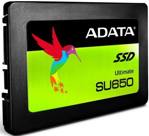 Твердотельный накопитель SSD 2.5 240GB A-Data SU650 Read 520Mb/s Write 450Mb/s SATAIII ASU650SS-240GT-C твердотельный накопитель ssd 2 5 512gb plextor s2 read 520mb s write 480mb s sataiii px 512s2c