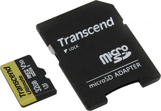 Карта памяти Micro SDHC 32GB Class 10 Transcend TS32GUSDU3M карта памяти micro sdhc sony sr32nyat 32gb